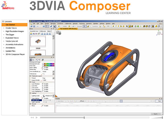 3DVIA Composer Tutorials Website