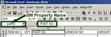 Name Properties used in Excel