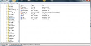 Screenshot of the Registry showing the 1719 solution which worked.